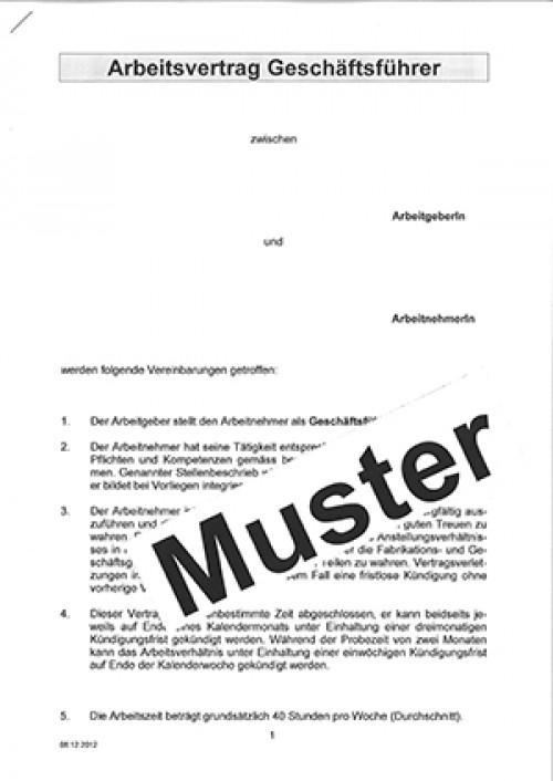 Arbeitsvertrag Geschäftsführer Wird Als Word Dokument Per E Mail